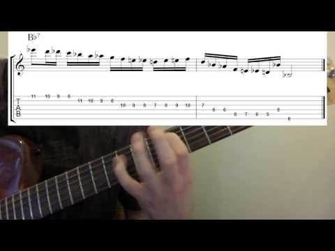 Fast guitar lick for