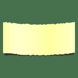 Banner De Papel Rasgado Amarillo Realista Formas Png Sobres De Papel Papel Rasgado Png