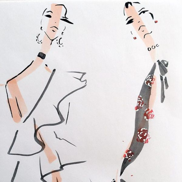 11 Incredible Fashion Illustrators You Absolutely Need To Follow On Instagram With Images Fashion Art Illustration Fashion Illustration Sketches Fashion Illustrations Techniques