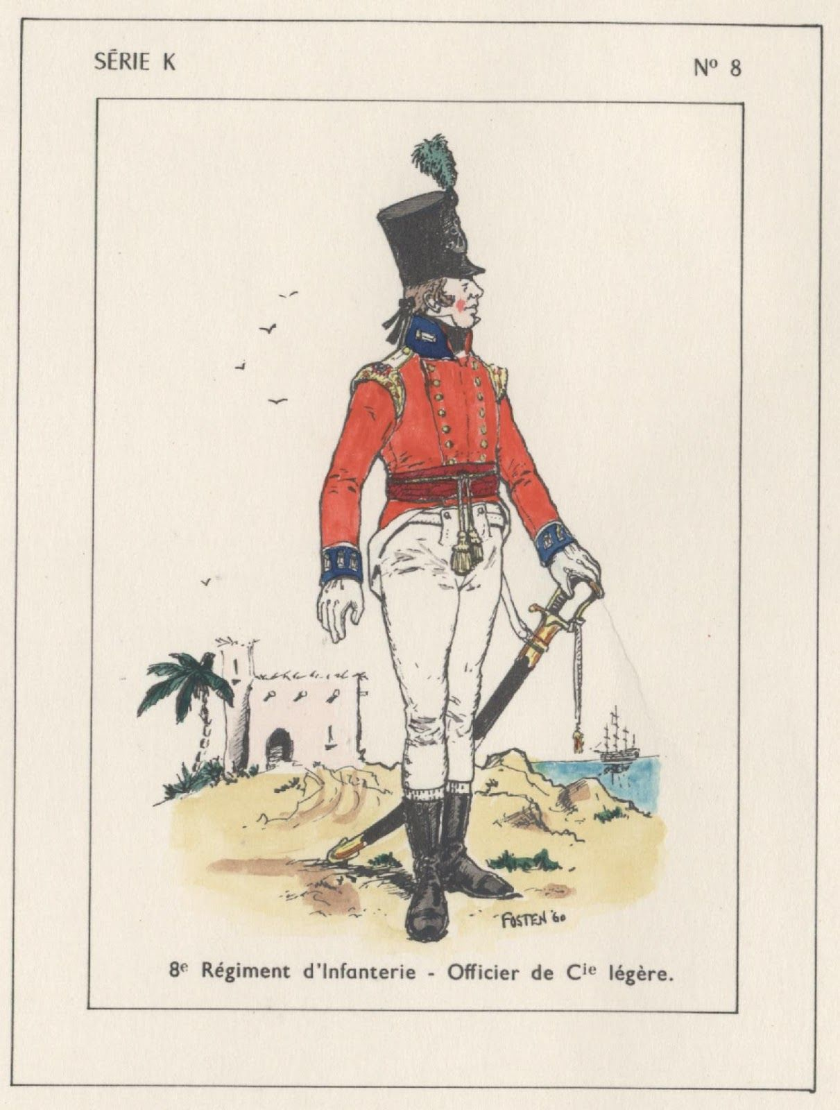British; 8th Regiment of Foot, Light Company, Officer, Egypt, 1801