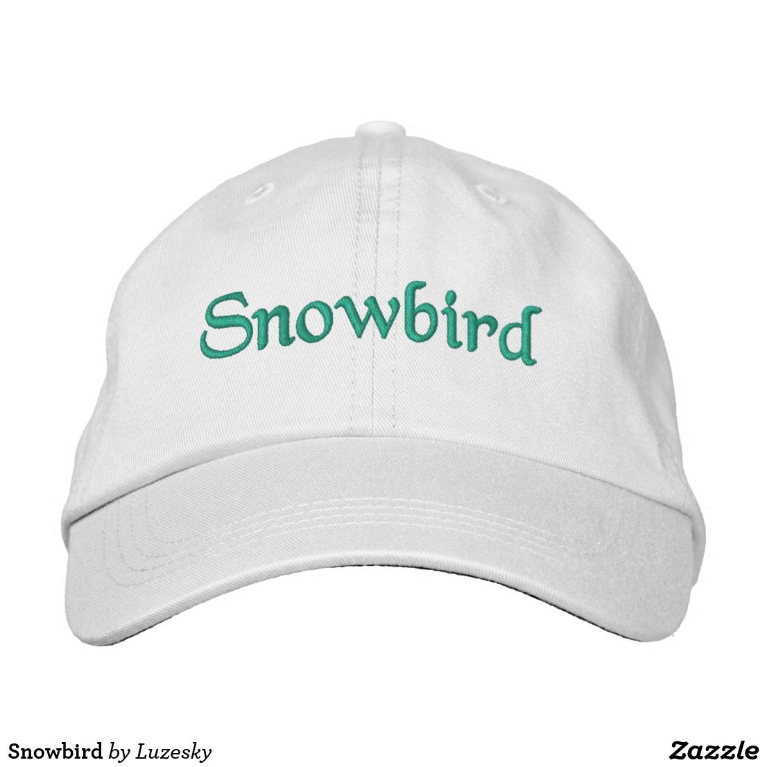 9619ac7f0 Snowbird Embroidered Baseball Cap | Zazzle.com in 2019 | Lykens ...