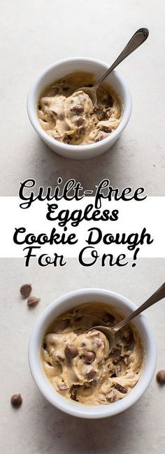 Guilt-Free Eggless Chocolate Chip Cookie Dough for One • Salt & Lavender