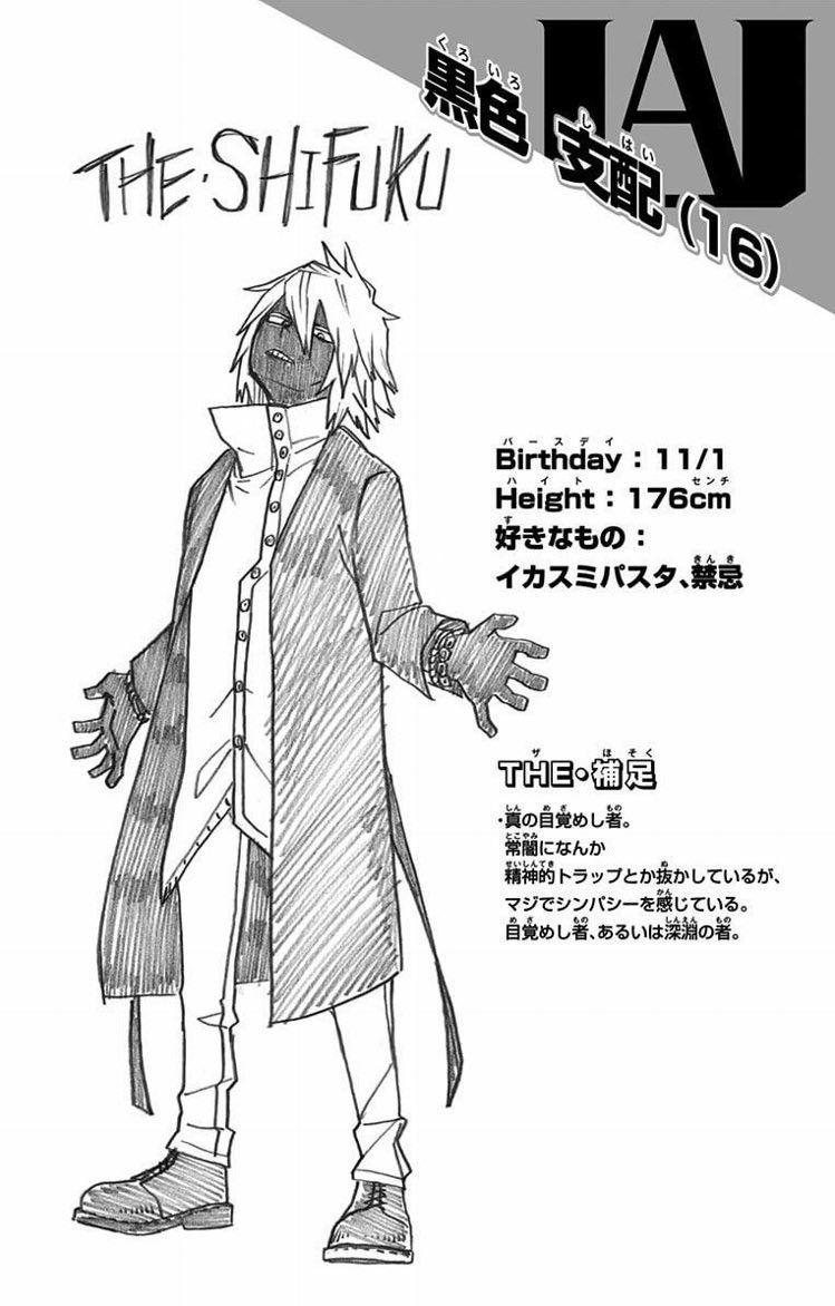 Kuroiro Shihai Hero academia characters, My hero