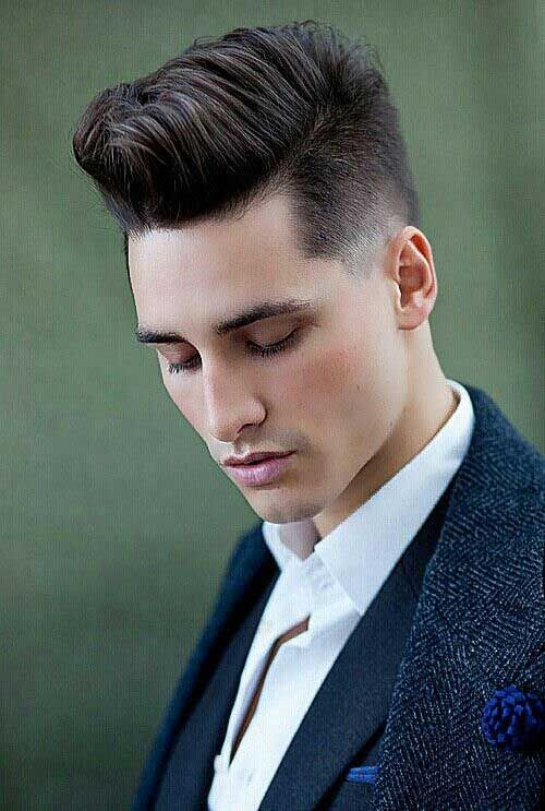 Cool Male Hair Cut With Faded Style
