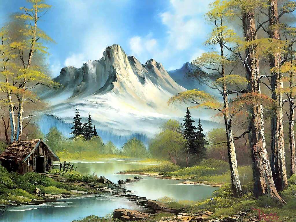 Bob Ross Paintings Bob Ross Art Bob Ross Paintings Mountain Paintings