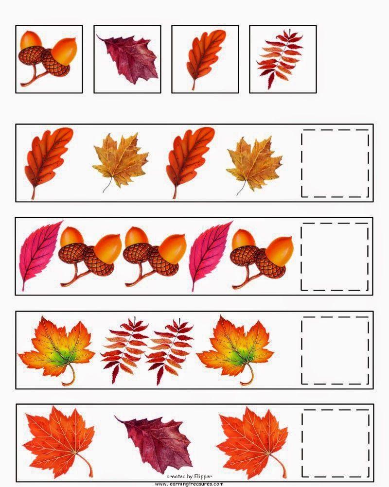 Montessori Nature Free Fall Autumn Preschool Printables Ak