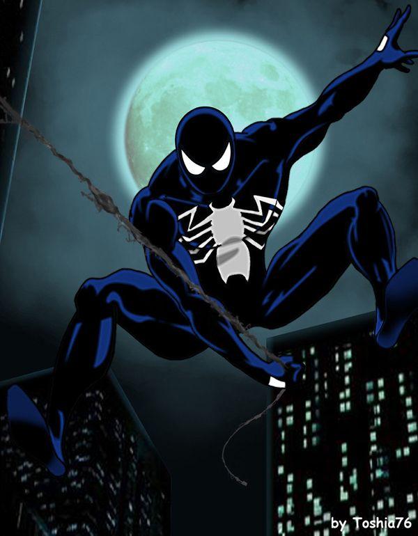 spider-man (black suit) vs | Black Spiderman Comic ...