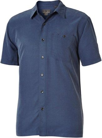 Royal Robbins Men's Mojave Desert Pucker Shirt Collins Blue L