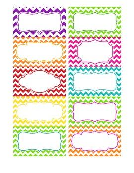 Chevron Labels Multicolor Editable File Chevron