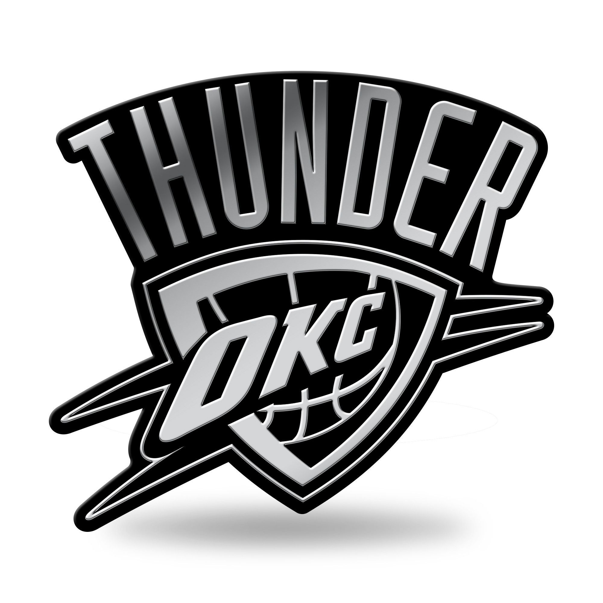 Oklahoma City Thunder Logo 3D Chrome Auto Emblem NEW Truck Or Car Rico NBA