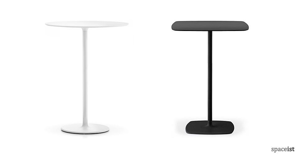stylus 110cm high black and white bar height tables | high bar