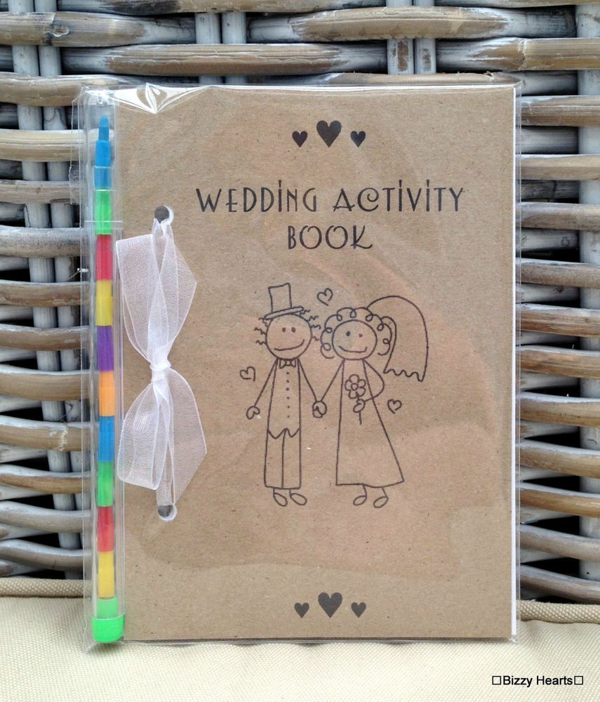 Childrens Wedding Gifts: Details About Childrens A6 WEDDING ACTIVITY BOOK Ideal