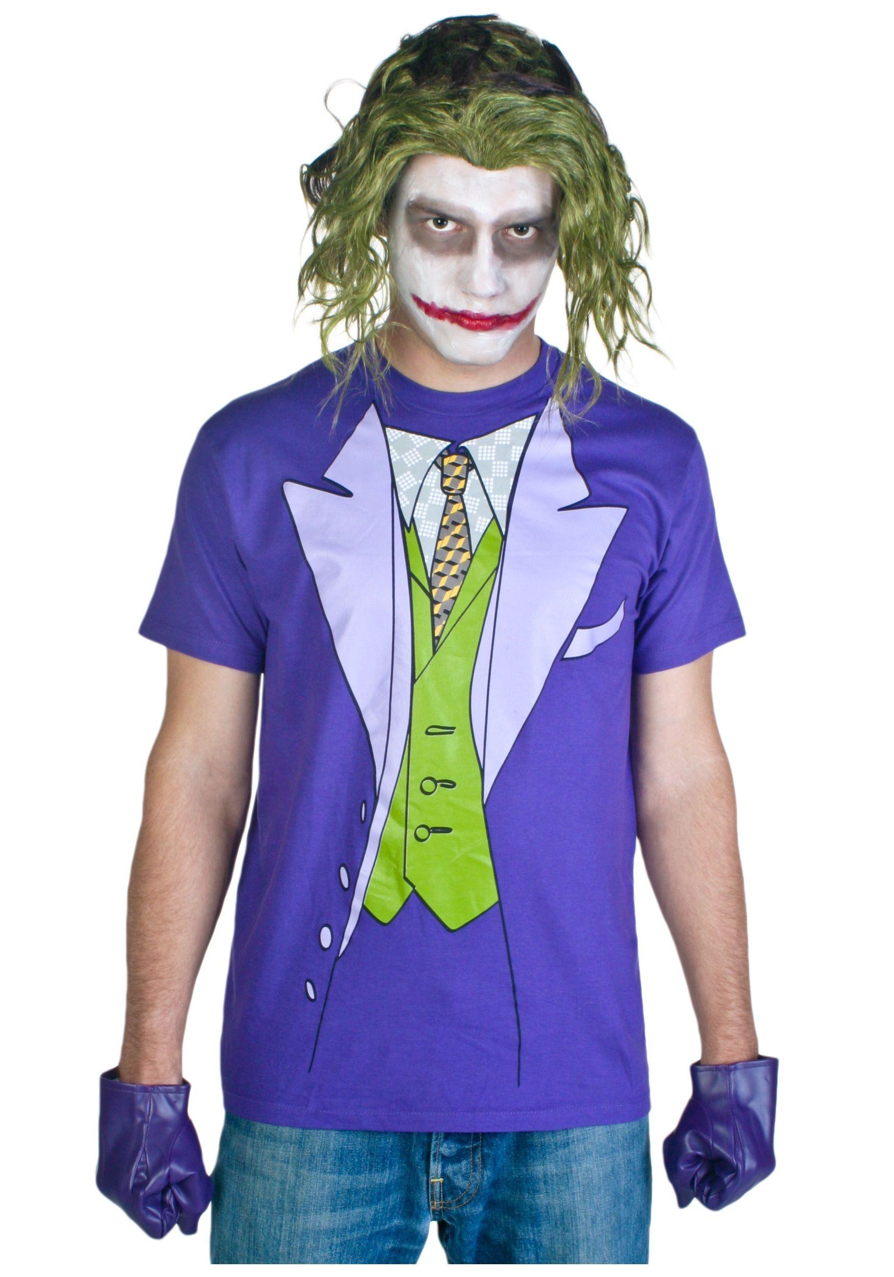 Mens joker costume t shirt dorky like me pinterest joker mens joker costume t shirt solutioingenieria Choice Image