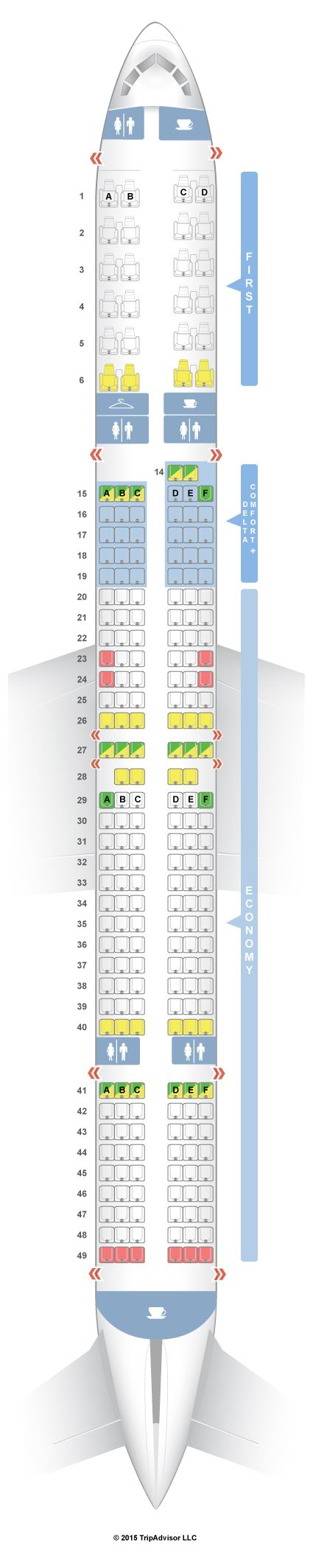 Seatguru seat map delta boeing 757 300 75y projects to try