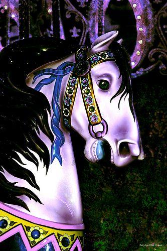 Carousel Horse Design Purple