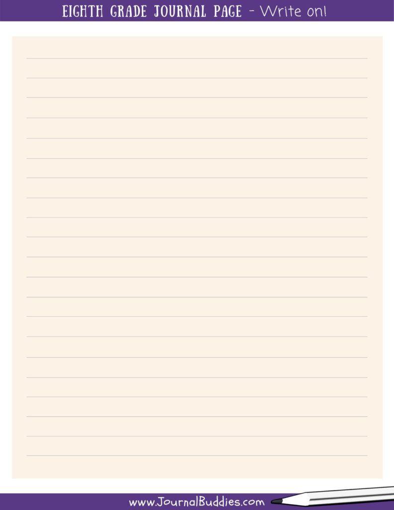 8th Grade Writing Worksheets 8th Grade Writing Kids Journal Creative Writing Tips [ 1024 x 792 Pixel ]