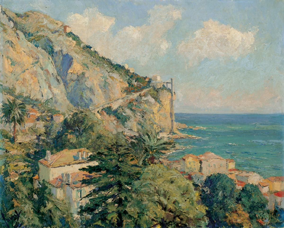 Edward Cucuel - Coastline at Menton, 1925 - 1935