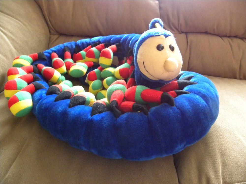 Centipede Caterpillar Plush Lots Of Legs Blue 70 In Soft Toy Stuffed Soft Toy Plush Soft