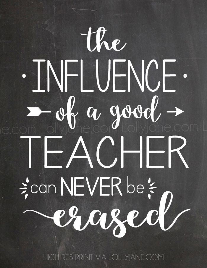 Image result for the influence of a good teacher can never be erased blackboard quote