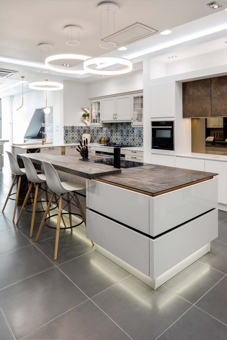 - in 2019 | White kitchen cabinets, Industrial style ...