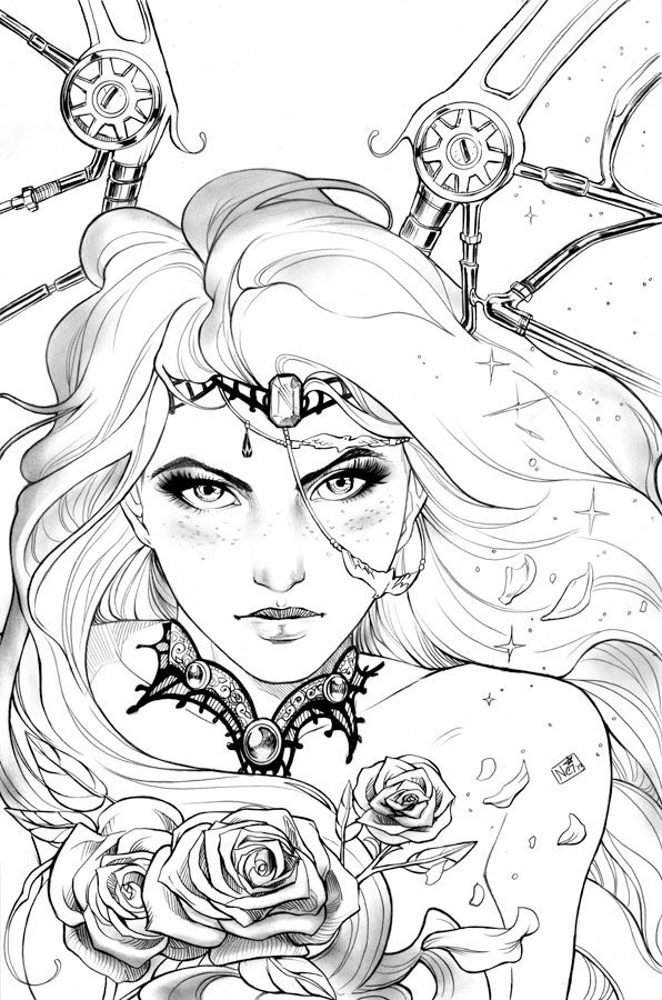 ADULT COLORING PAGE | FANTASY ART | Kleurplaten | Pinterest ...
