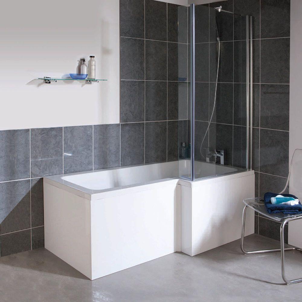 Ultra Cove Right Hand 1700mm Square Shower Bath   Bathroom ...