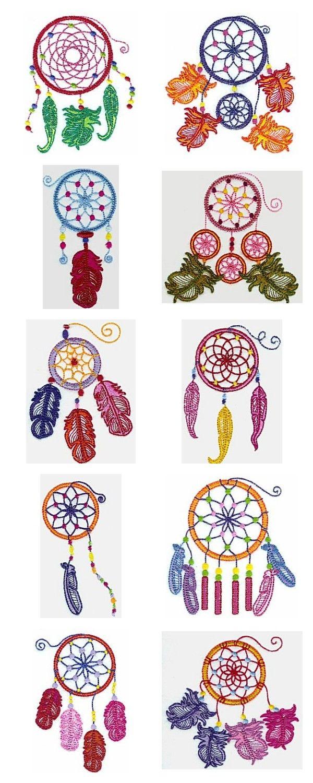 Dream Catcher Embroidery Machine Design Details