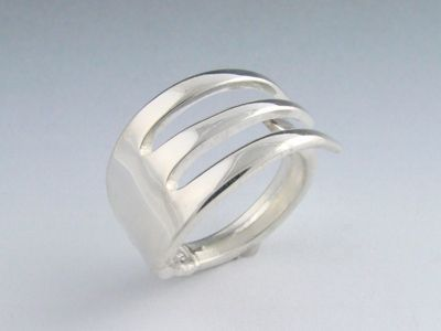 Fork and Spoon Jewelry: Sterling Silver - Fork Ring