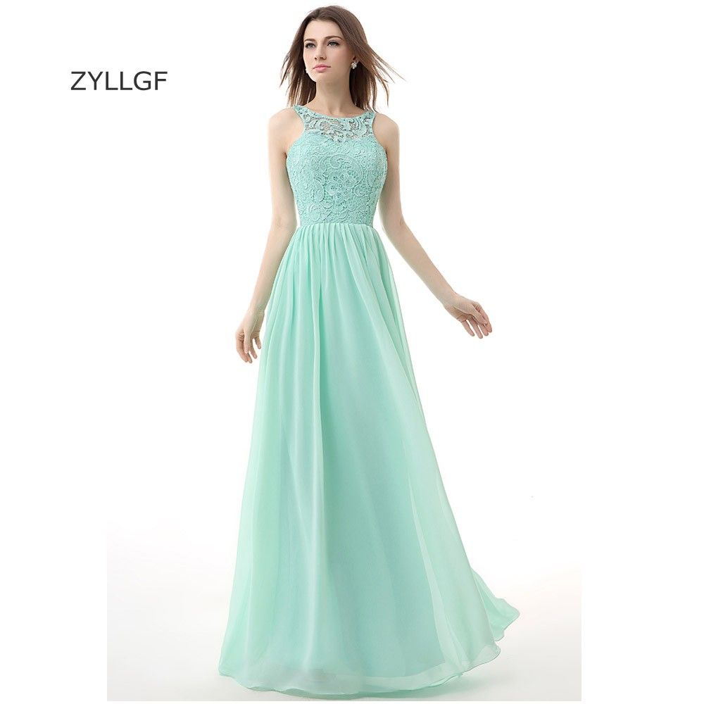 Click to Buy << ZYLLGF Elegant Long Evening Gowns Sheath Sleeveless ...