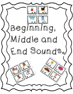 Beginning, Middle and End Sounds Bundle from Perfectly