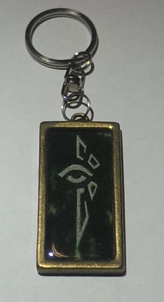 Ingress Enlightened Keychain by LokisWardrobe on Etsy