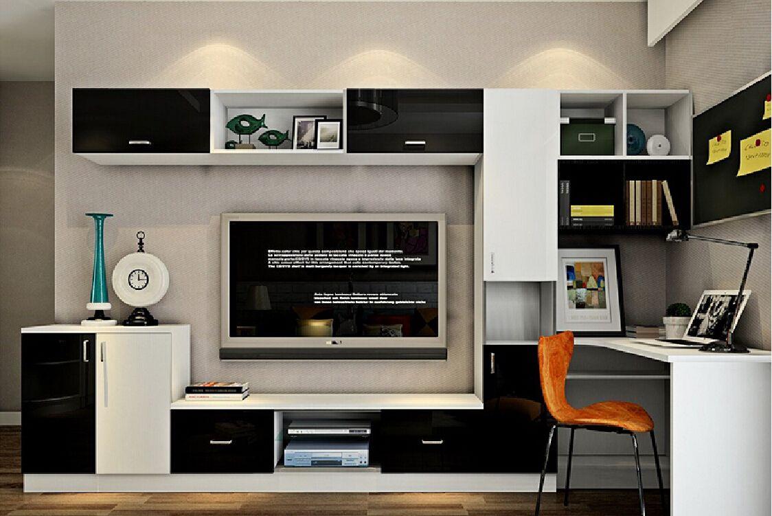 Image Result For Desk With Tv Unit Desk Tv Stand Small Living Room Furniture Home Office Bedroom