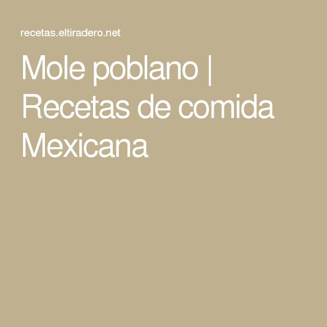 Mole poblano | Recetas de comida Mexicana