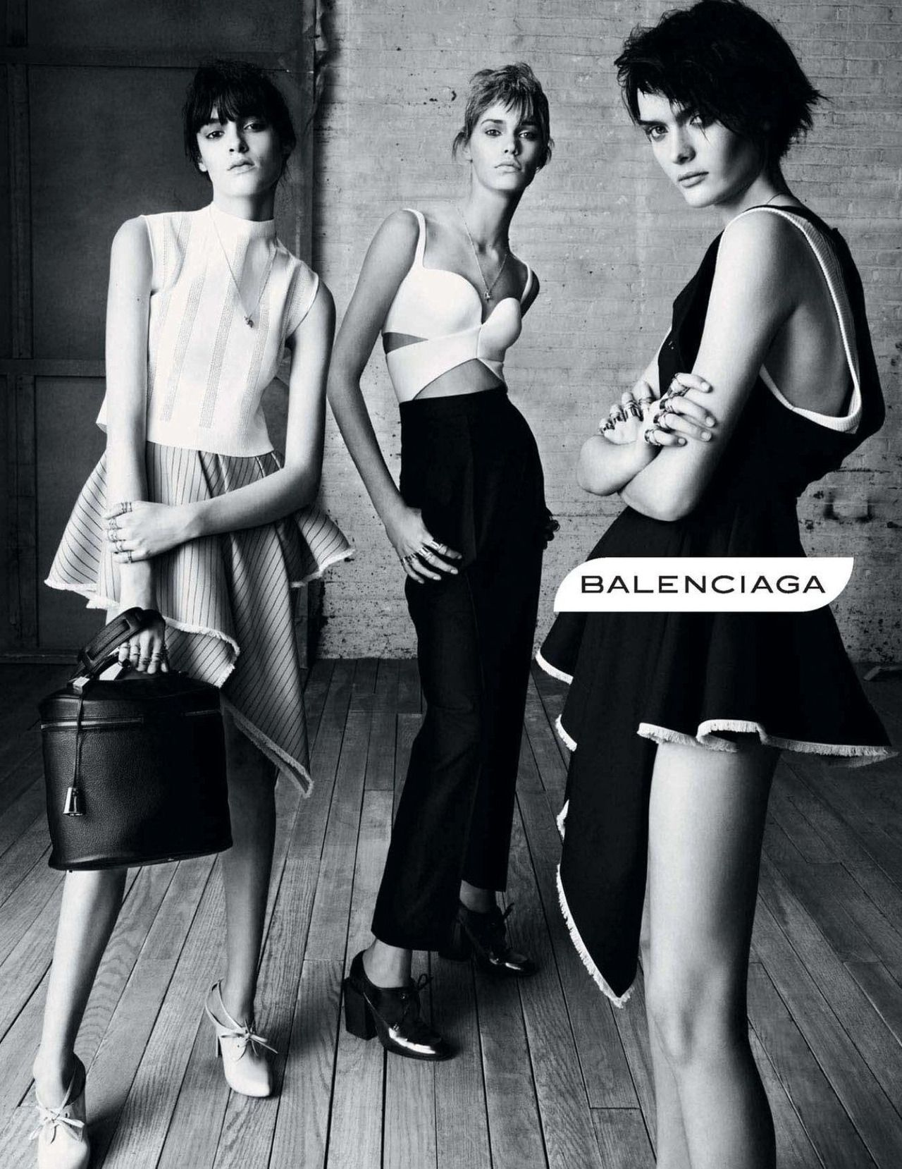 Kremi, Kirstin & Sam by Steven Meisel for Balenciaga Spring/Summer 2013 (Ad Campaign)
