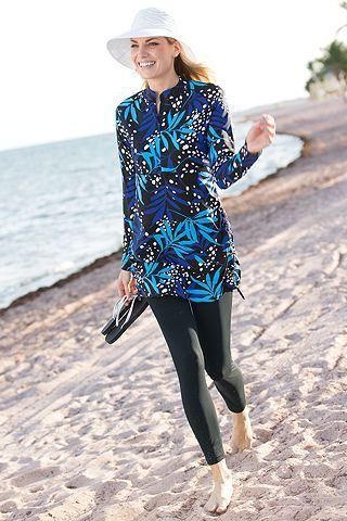 3427b0c232152 Ruche Swim Shirt  Sun Protective Clothing - Coolibar. Can be worn on the  beach
