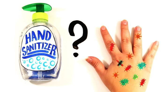 Bottle Of Hand Sanitizer With Good Hands Saying With Images