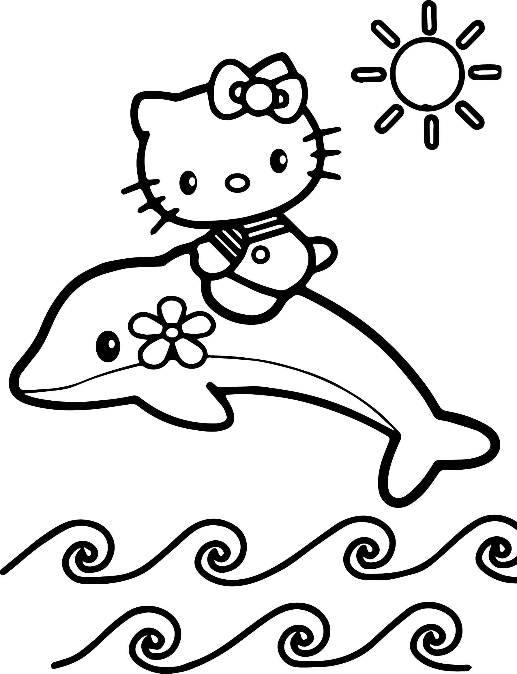 Hello Kitty Flipper Boyama Sayfası Ile Oynayın Boyama Sayfaları