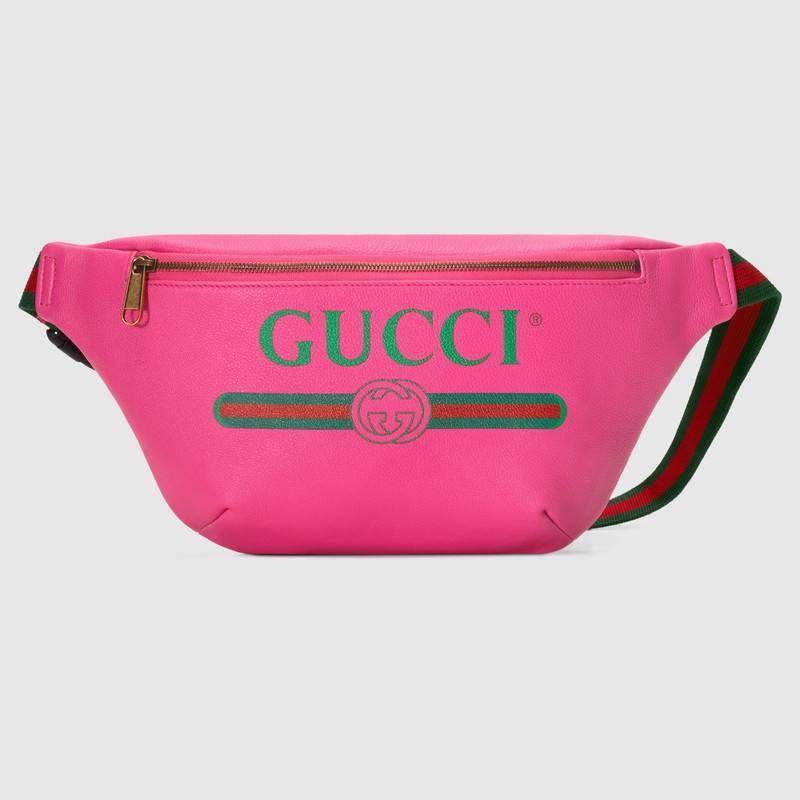 Canguro con Cinturón de Piel con Estampado Gucci en 2019 ... 113c6cb22518