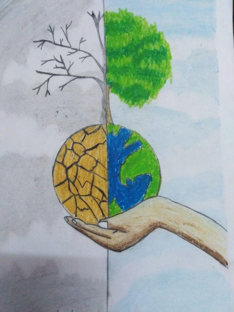 رسم عن التلوث البيئي Youtube 8