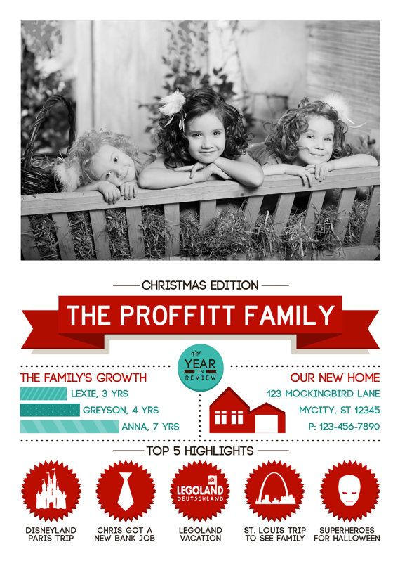 christmas newsletter infographic holiday by proffittproductions