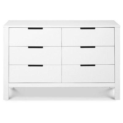 Carter S By Davinci Colby 6 Drawer Dresser White Dresser