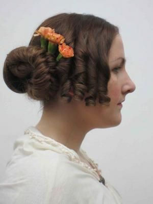 Photos Of Work From Period Hair Courses 1840s 1837 1854 Hair