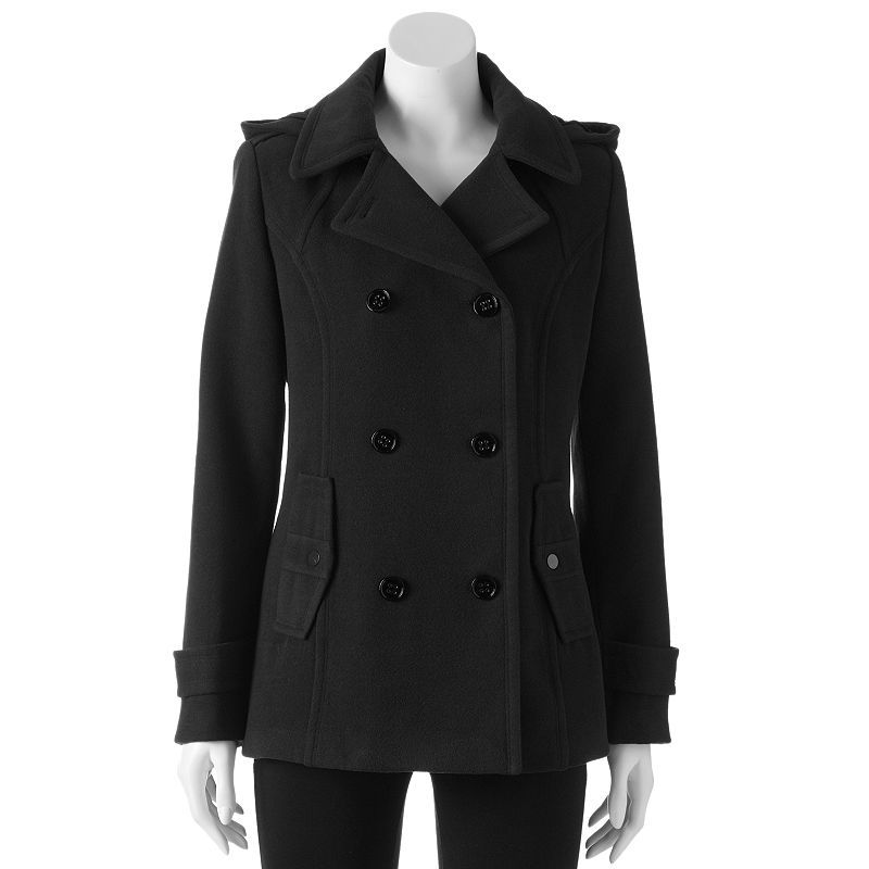 d.e.t.a.i.l.s Hooded Double-Breasted Peacoat - Women's