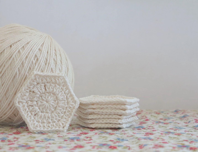 bear loves dove Hexy Make Up Wipes | crocheting | Pinterest
