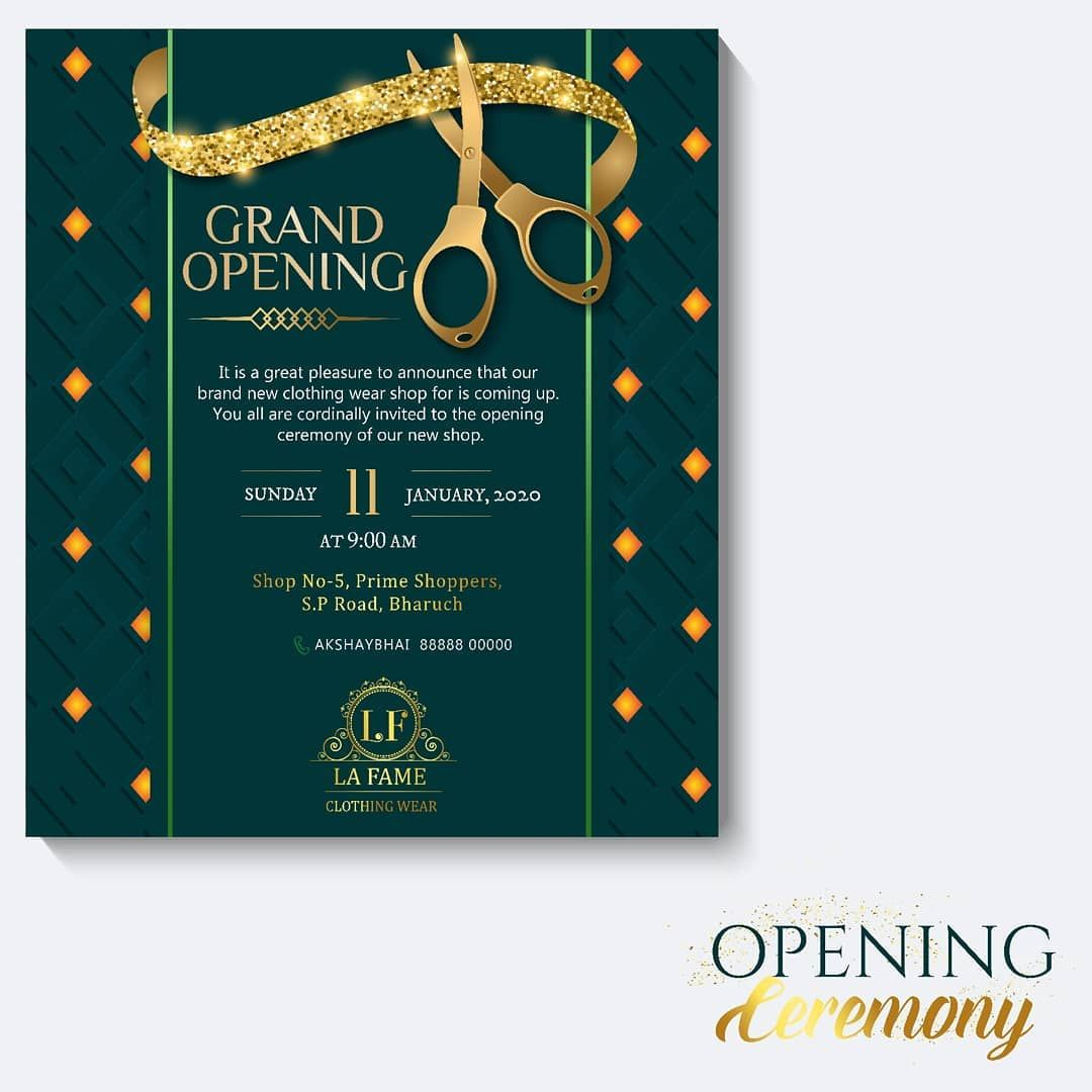 Isn T It Cool Idea To Send An Opening Inauguration Ceremony Invitation Cards To Invitations Invitation Cards Babyshower Invitations