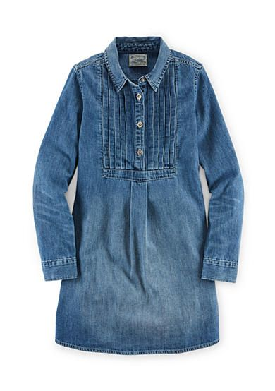 12a2d74e57 Ralph Lauren Childrenswear Long Sleeve Denim Shirt-Dress Girls 7-16 ...