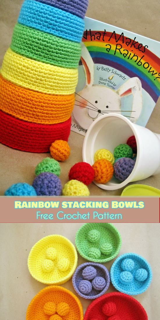 Stacking Toys [Crochet Patterns and Free Crochet Patterns] #toysforbabies
