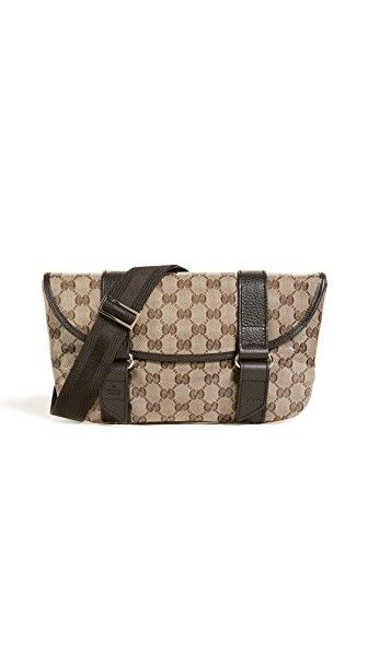 99e96bde3602 WHAT GOES AROUND COMES AROUND GUCCI CANVAS FANNY PACK (PREVIOUSLY OWNED).  #whatgoesaroundcomesaround #bags #leather #belt bags #canvas #