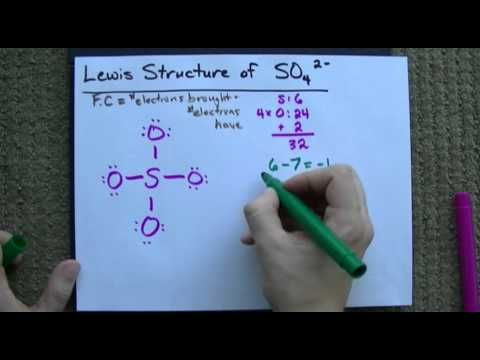 Lewis Structure of SO4(2-) (Sulfate) CORRECT - YouTube Study