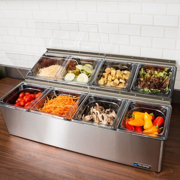 San Jamar Fp9248fl Ez Chill Food Prep Center With 8 Pans Food